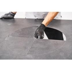 резка круглых отверстий в большеформатных плитах